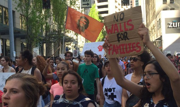 Live coverage of the May Day marches and events in Seattle