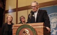 """Dori Monson doesn't see a difference in the """"lies"""" coming from Donald Trump as the ones from Gov. Jay Inslee. (AP)"""