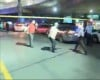 In this image taken from DHA TV, a police cordon is set up outside Istanbul's Ataturk airport, Tuesday June 28, 2016. Two explosions rocked Istanbul's Ataturk airport on Tuesday evening, according to a Turkish official. (DHA TV via AP) TURKEY OUT.