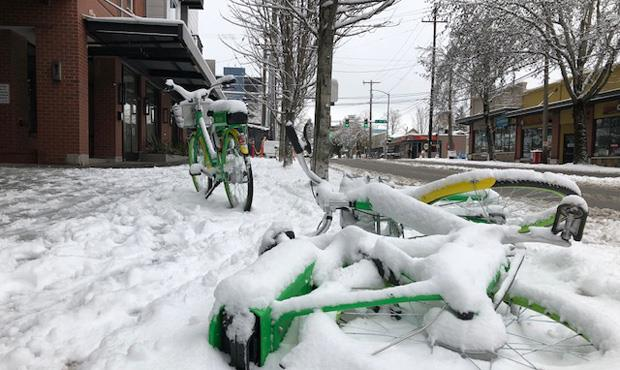 Seattle dislikes biking in the rain, but shuns bikeshares in the snow