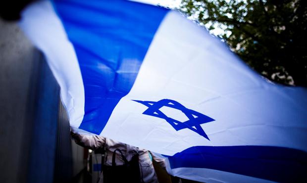 Anti-Semitism Israel flag...