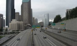 northbound I-5, Seattle