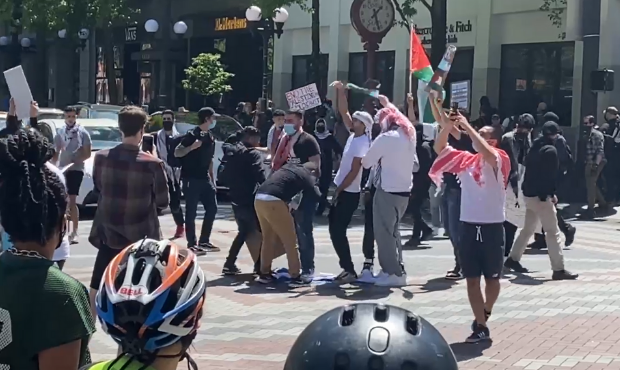 Rantz: I was assaulted, Israel flag burned at Seattle's anti-Semitic rally