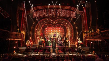 """This image released by Boneau/Bryan-Brown shows the cast in """"Moulin Rouge! The Musical."""" (Matthew M..."""