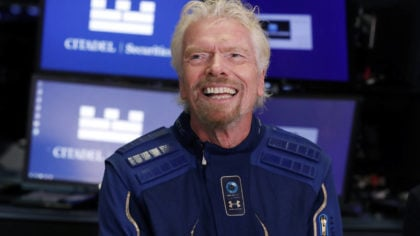 FILE - In this Monday, Oct. 28, 2019, file photo, Sir Richard Branson, founder of Virgin Galactic, ...