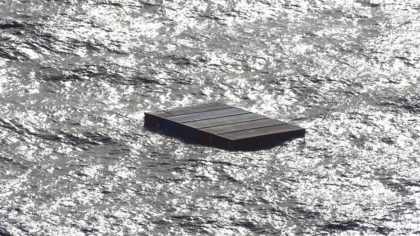 Some of the located containers, captured by the US Coast Guard Air Station Port Angeles helicopter....