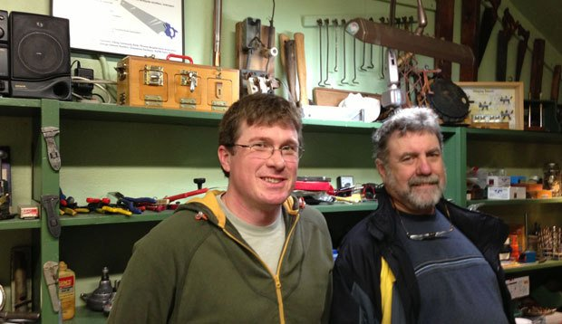 Patrick Dunn, left, and Michael Broili run one of several fixers collectives in the Puget Sound are...
